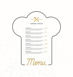 linear background for restaurant menu vector image