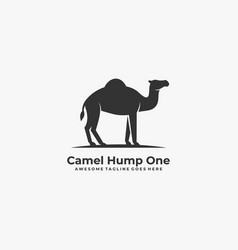 Logo camel hump one silhouette vector