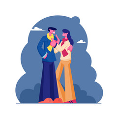 loving couple male and female characters vector image