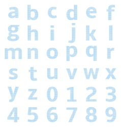 Lowercase alphabet graph paper vector