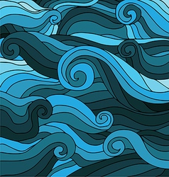 Marine wave patterns vector