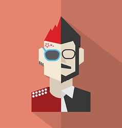 Modern Flat Design Conflict Character Man Icon vector image