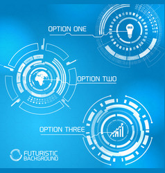Modern virtual interface design vector