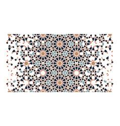 Moroccan arabesque seamless art pattern vector