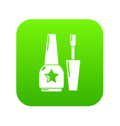 nail polish icon green vector image