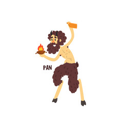 Pan olympian greek god ancient greece mythology vector