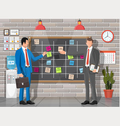 people scrum board in office interior vector image
