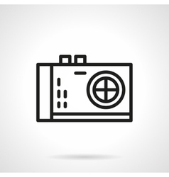 Photo camera black line design icon vector image