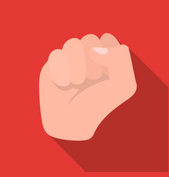raised fist icon in flat style isolated on white vector image