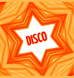 Red disco star background vector