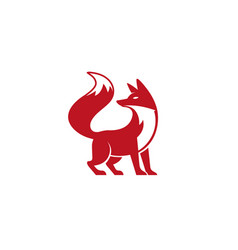 red fox logo design vector image