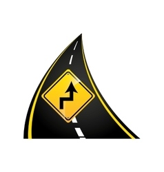 reverse turn road sign concept graphic vector image
