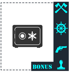 safe icon flat vector image