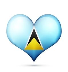 Saint lucia heart flag icon vector
