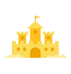 sand castle icon flat isolated vector image