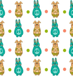 Seamless pattern with easter bunny-10 vector