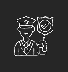 service staff chalk white icon on black background vector image