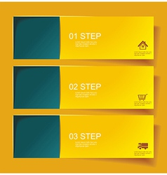 set bannerss step 1 2 3 with different shadow vector image