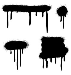 set graffiti spray painted lines and grunge vector image