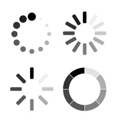 set loading icons white background vector image