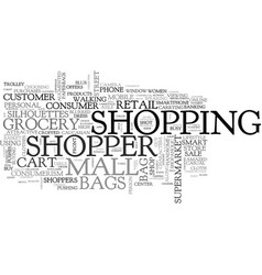 shopper word cloud concept vector image
