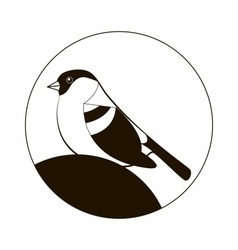 Sign with a picture a bird vector