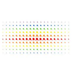 smoking detective spectrum halftone array vector image