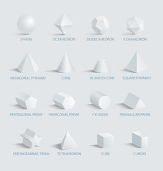 sphere and geometric shapes on vector image