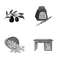Sports training and other monochrome icon in vector