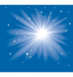 star at the blue sky vector image