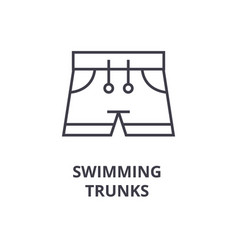 swimming trunks line icon outline sign linear vector image