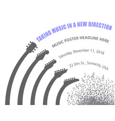 taking music in a new direction exciting event pos vector image