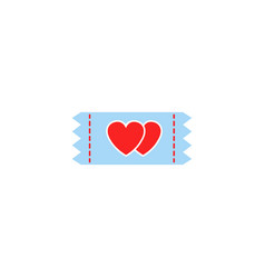 ticket for sweethearts solid icon vector image