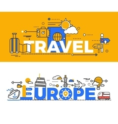 Travel Europe Design Flat Concept vector