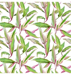 Tropical Leaves Background Seamless Pattern Design vector