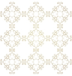 Vintage Seamless Gold Pattern Victoian vector image