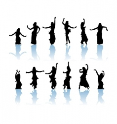 woman dancers vector image