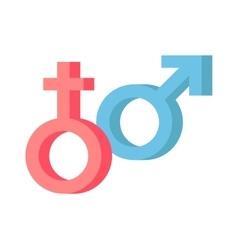 Male and female symbols combination vector image
