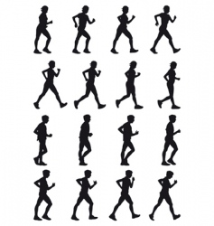 marching vector image vector image