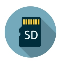 Micro sd card icon flat vector image