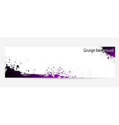 purple grunge banner vector image vector image