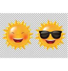 yellow cartoon sun vector image