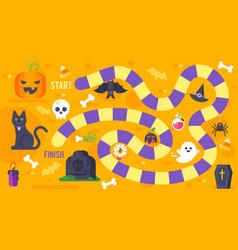 kids halloween game template vector image vector image