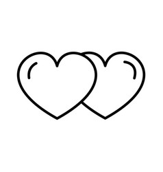 love hearts line icon sign vector image vector image