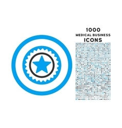 Medal Seal Rounded Icon with 1000 Bonus Icons vector image vector image