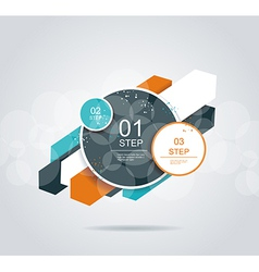 Modern arrow and circles options banner vector image