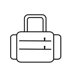 suitcase travel equipment line vector image vector image