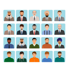 avatars characters set of different kind men vector image vector image