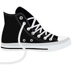 Black sneakers vector image