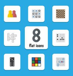 flat icon entertainment set of cube gomoku vector image vector image